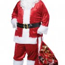 Size: Small/Medium Item# 01150  Classic Christmas Santa Claus Suit  Adult Costume