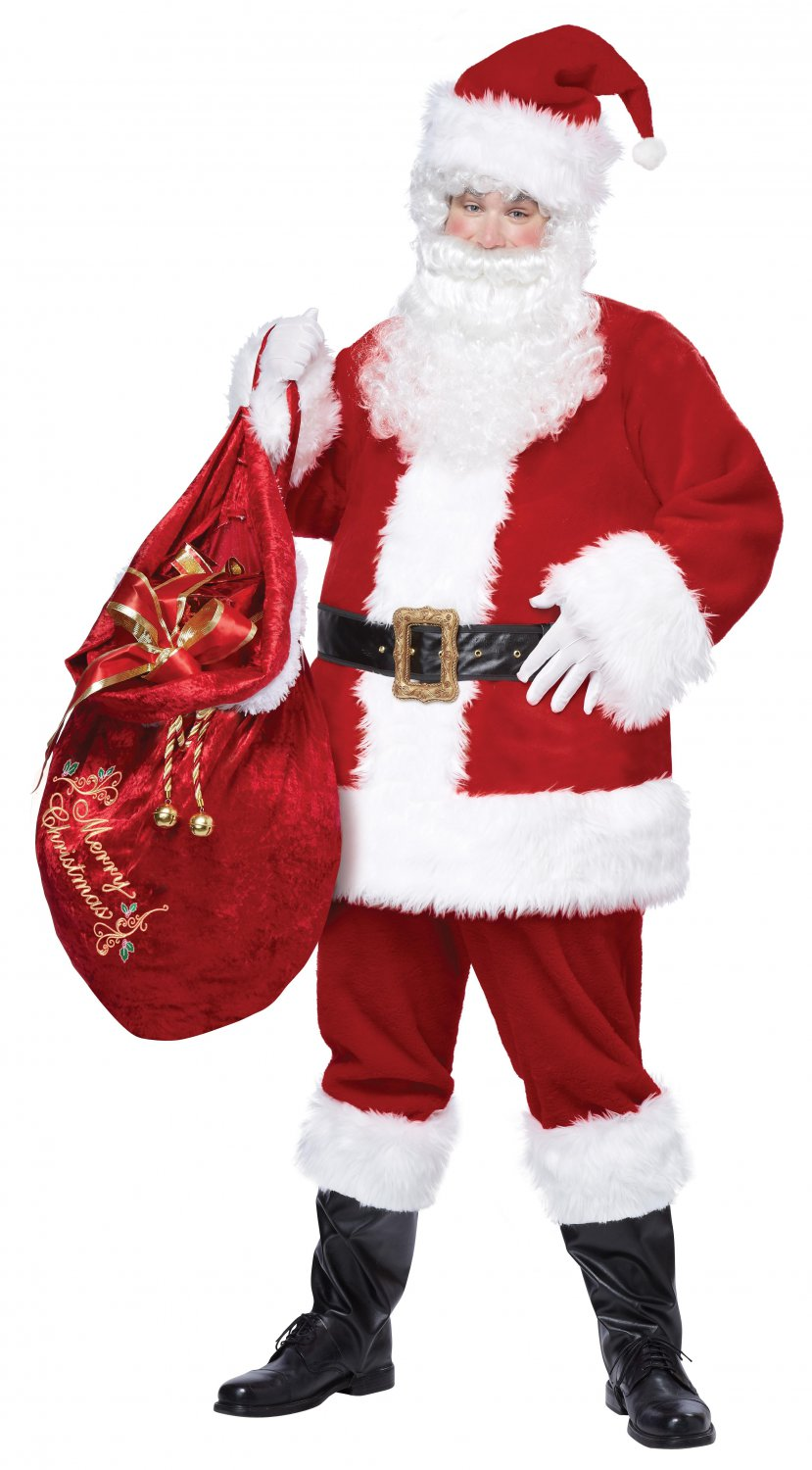 Christmas santa claus deluxe suit adult costume size