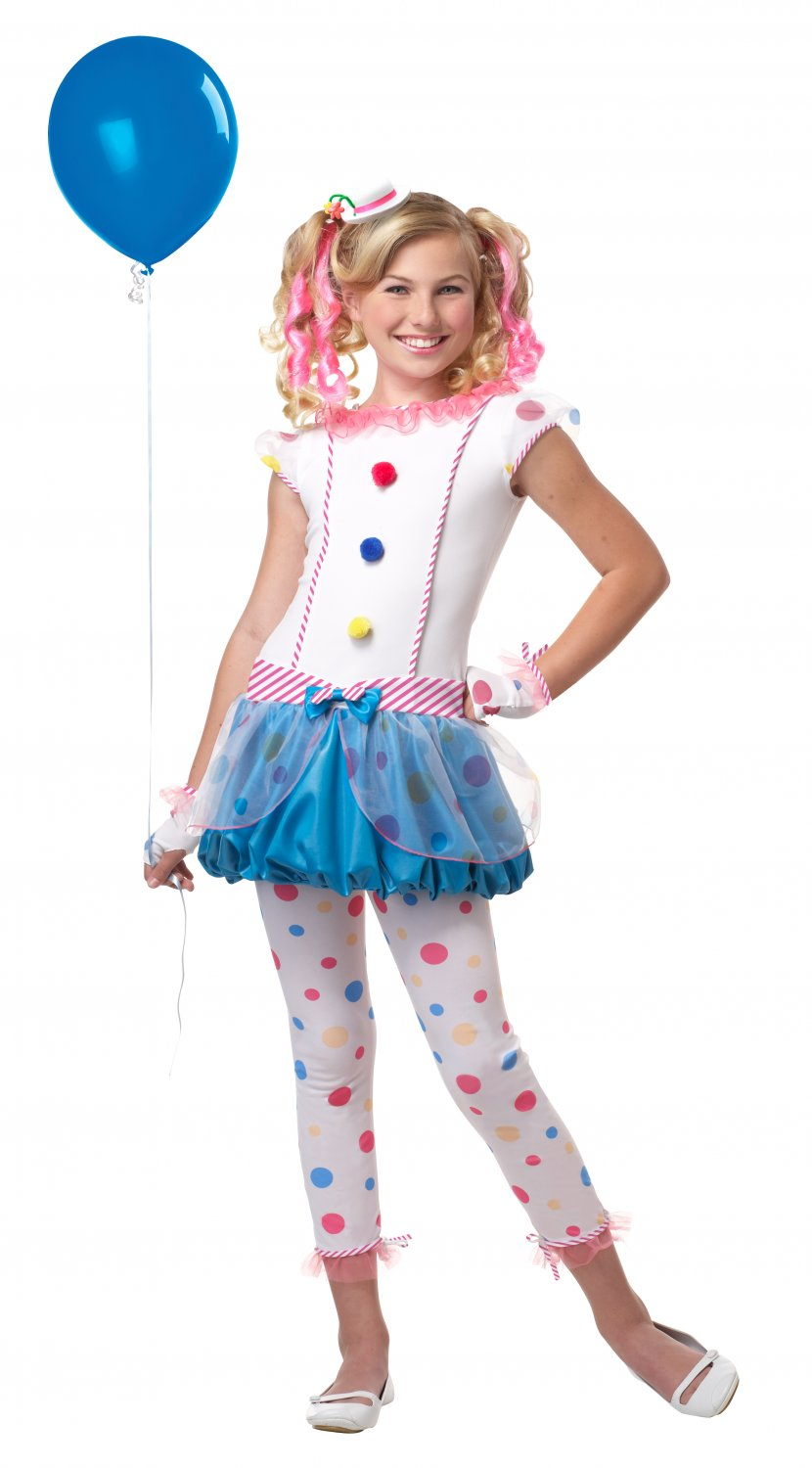Dotsy Clown Tween Child Costume Size: X-Large #04053