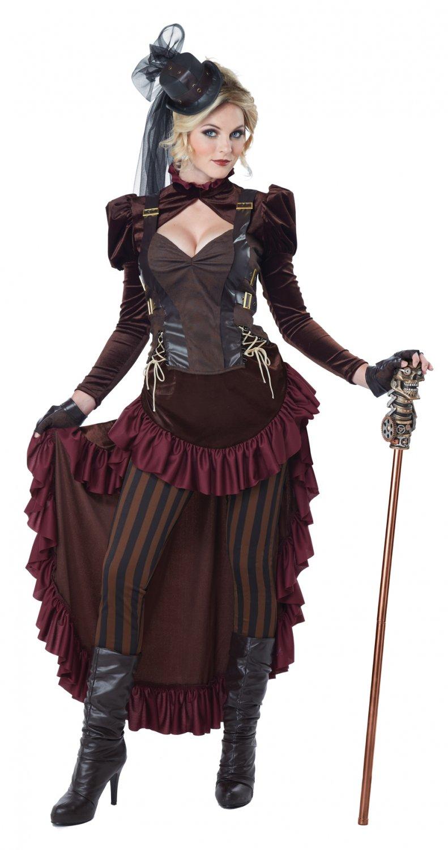 Victorian Steampunk Adult Costume Size: Medium #01573