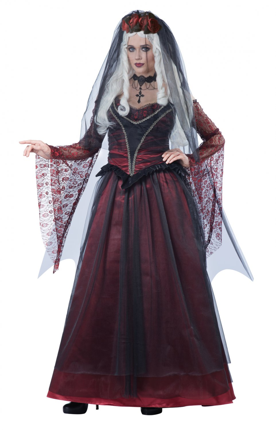 Victorian Gothic Immortal Vampire Bride Adult Costume Size: Large #01503