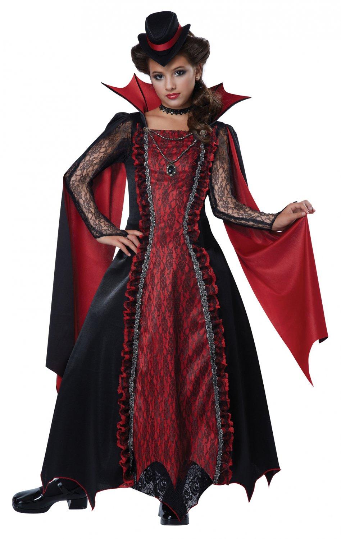 Victorian Vampira Dracula Child Costume Size: Medium #00502