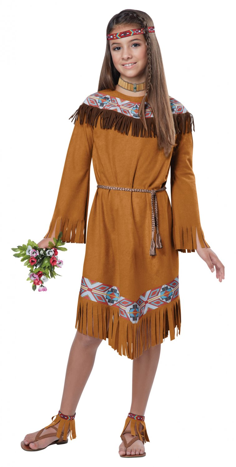 Thanksgiving Pocahontas Indian Girl Child Costume Size: Large #00497