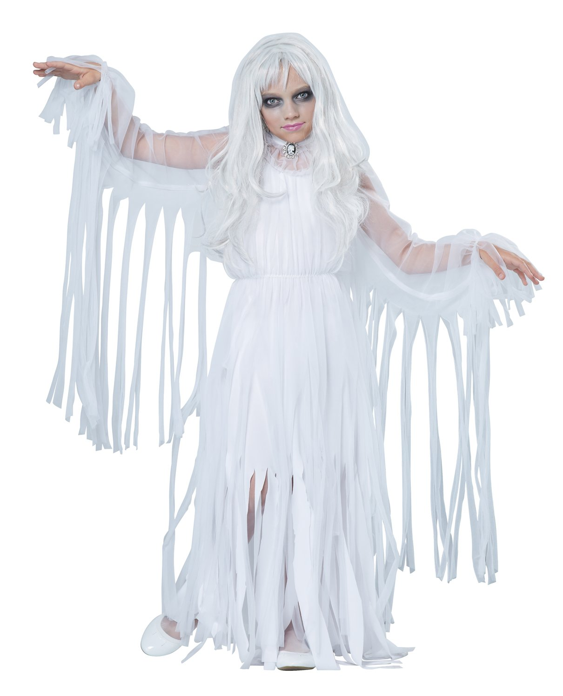Ghostly Girl Child Costume Size: Medium #00489