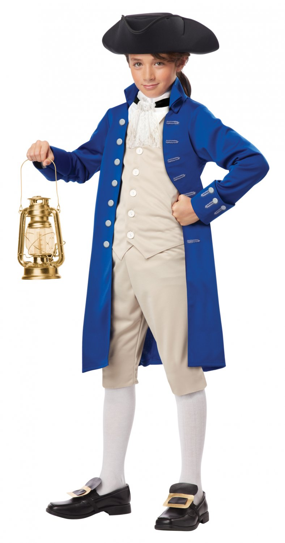 Colonial Thanksgiving Patriotic Paul Revere Child Costume Size: Medium #00486