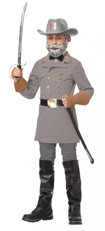 Civil War Confederate General Robert E. Lee Child Costume Size: Large #00482