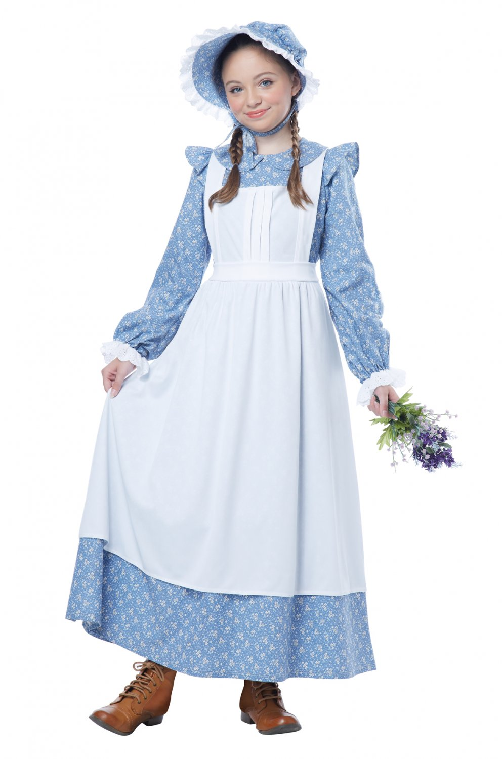 Western Pioneer Girl Child Costume Size: Large #00480