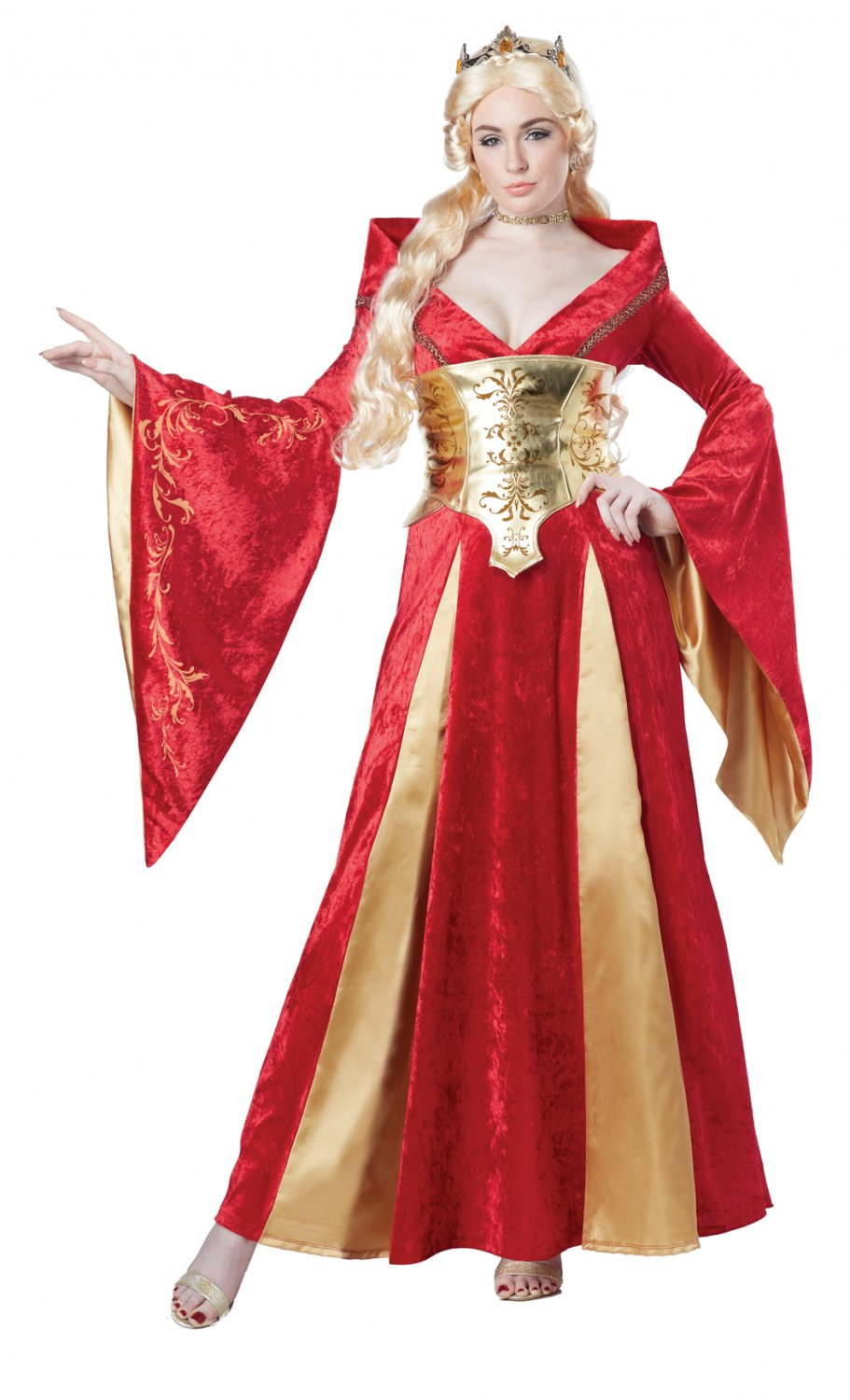 Renaissance Medieval Queen Adult Costume Size: Large #01589