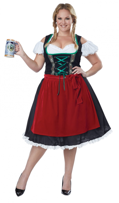 Oktoberfest Fraulein Bar Maid Plus Size Adult Costume: 3X-Large #1751