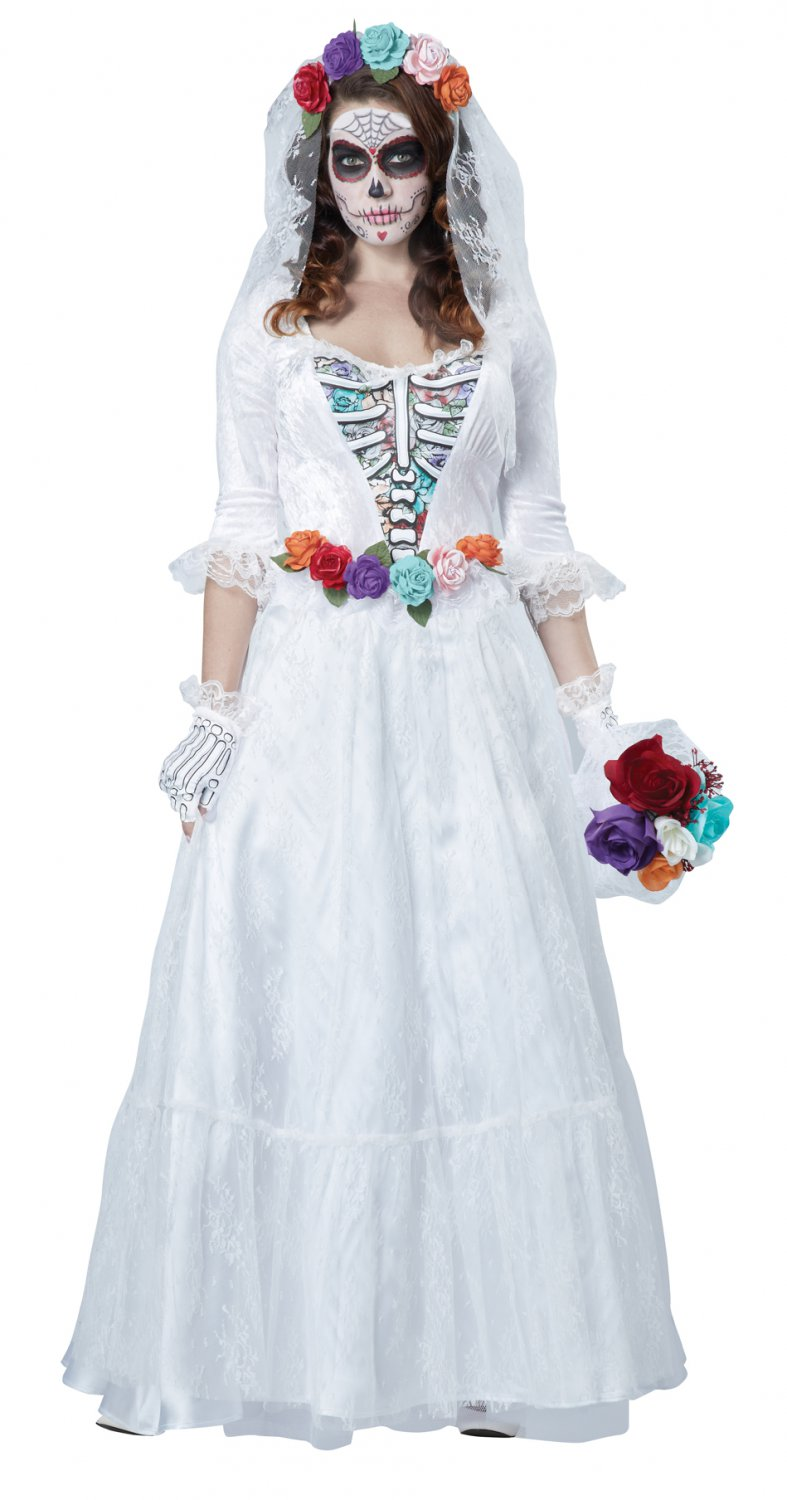 La Novia Muerta  Day of the Dead Bride Adult Costume Size: Large #01599