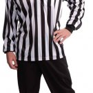 Men's Referee Costume Shirt and Hat Adult Costume Size: One Size #66259