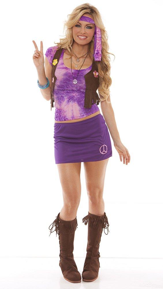 Retro Hippie Costume Peace Baby Peace Adult Costume Size: Lareg #9806L