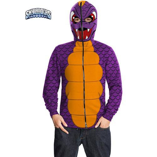 Dragon Spyro Skylanders Hoodie Tween Child Costume Size: Large #886383L
