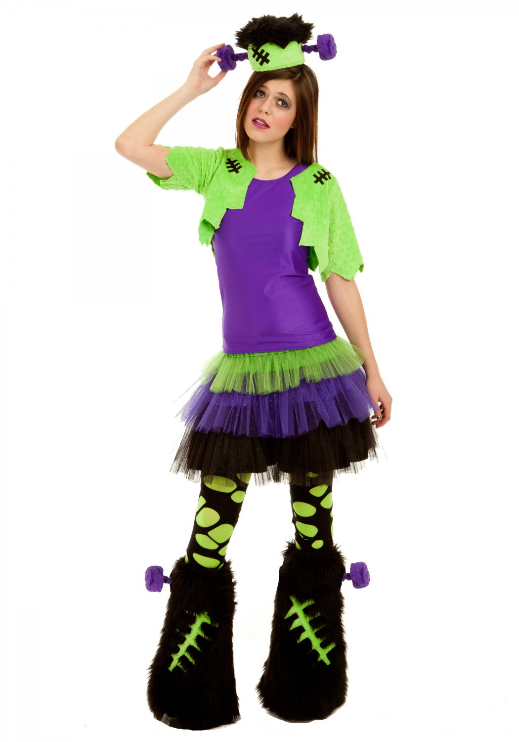 Frankenstein Girls Furry Creature Costume Size: Large #4007L