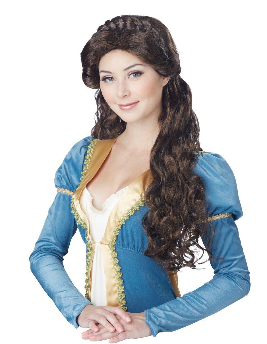 Renaissance Medieval Beauty Adult Costume Wig (Brunette) #70820