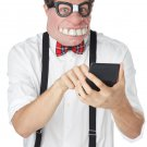 Standard Size: #60656 Professor Nerd Geeked Out Adult Costume Mask