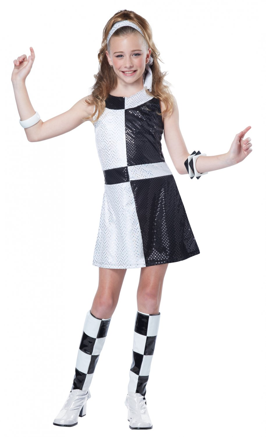 60's Mod Chic Go Go Girl Tween Costume Size: Large #04084