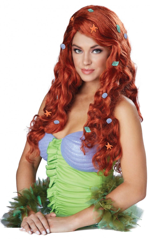 Disney Ariel Mermaid Aquatic Fantasy Wig (Auburn) #70828