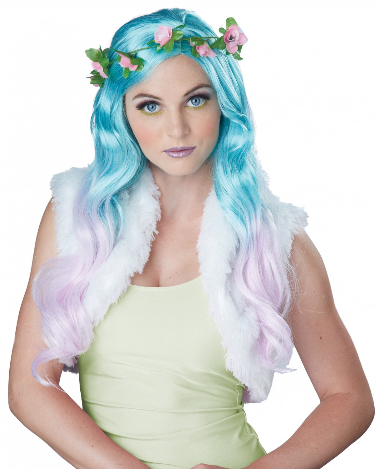 #70813 Tinkerbell Floral Fantasy Adult Costume Wig