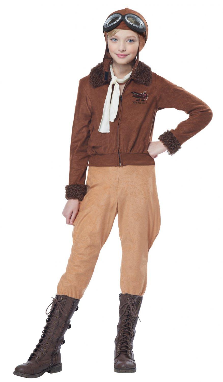 Amelia Earhart Aviator Pilot Child Costume Size: Large #00303