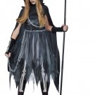 Dark Gothic Reaper Girl Child Costume Size: Large #00535