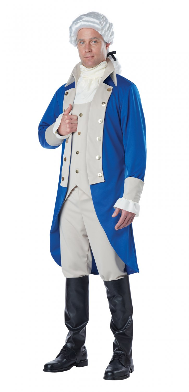 Size: X-Large #01535 George Washington USA President Colonial Adult Costume