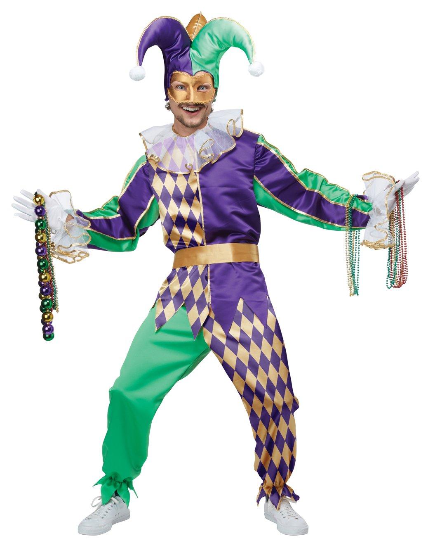 Renaissance Clown Mardi Gras Jester Adult Costume Size: Small #01400