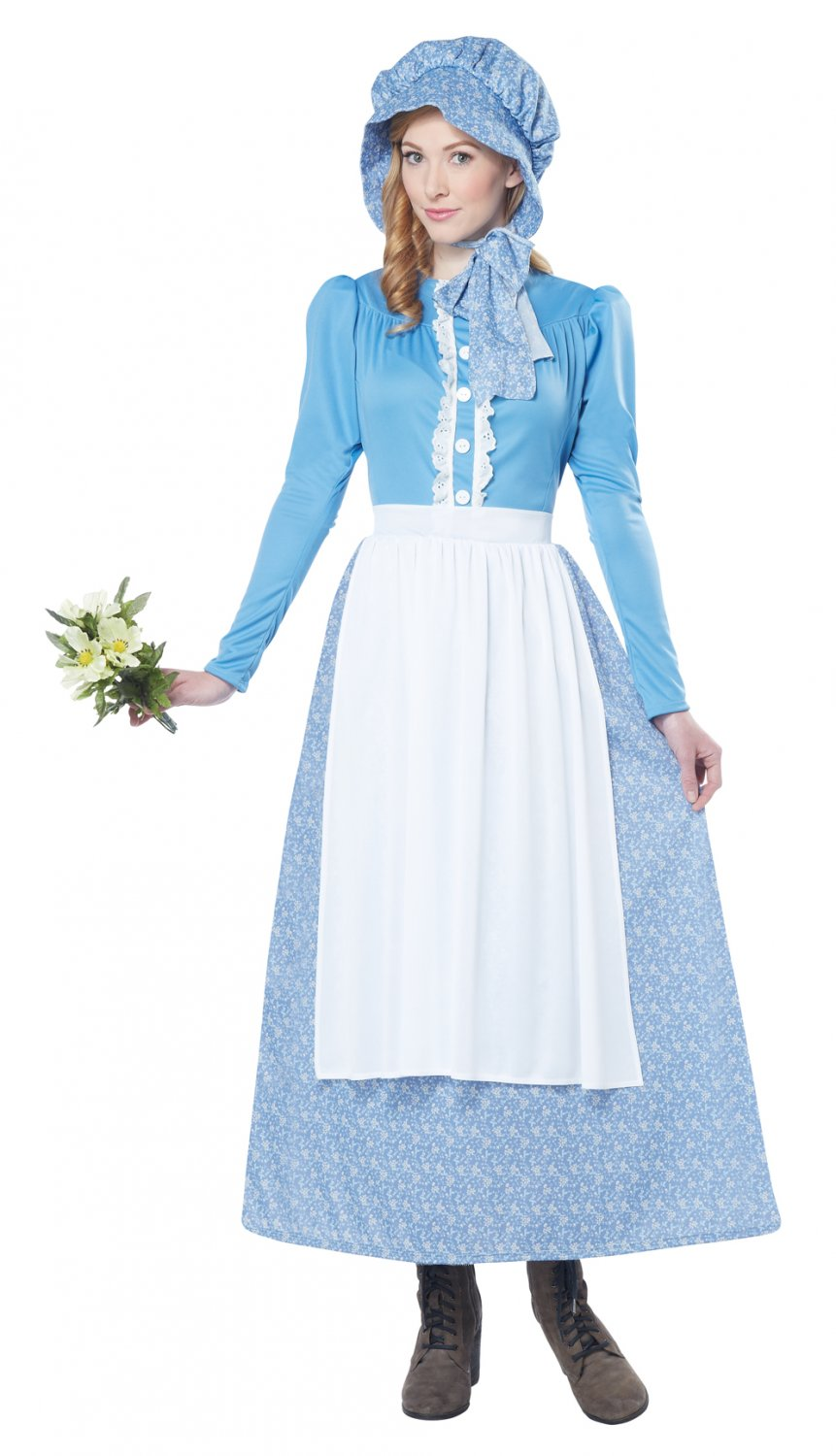 1800's  Cowboy Western Pioneer Woman Adult Costume Size: X-Small #01248