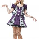 Gothic Victorian Marionette Baby Doll Phantom Adult Costume Size: Medium #01385