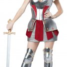 French Medieval Knight Joan of Arc / Historical Heroine Adult Costume Size: X-Small #01250