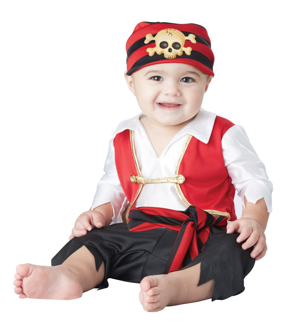 Size: 12-18 Months #10050  Disney Captain Hook Buccaneer Pee Wee Pirate Baby Infant Costume