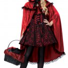 Dark Gothic Deluxe Red Riding Hood Child Costume Size: Large #00491