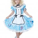 Deluxe Alice In Wonderland Child Costume Size: Small #00533