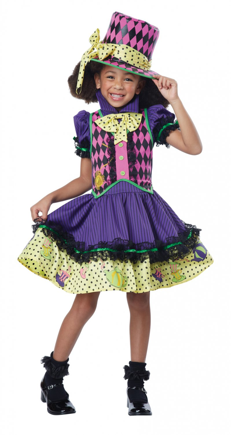 Deluxe Mad Hatter Alice In Wonderland Child Costume Size: Small #00534