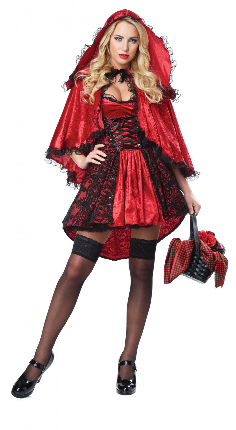 Dark Gothic Deluxe Red Riding Hood Adult Costume Size: X-Small #01300