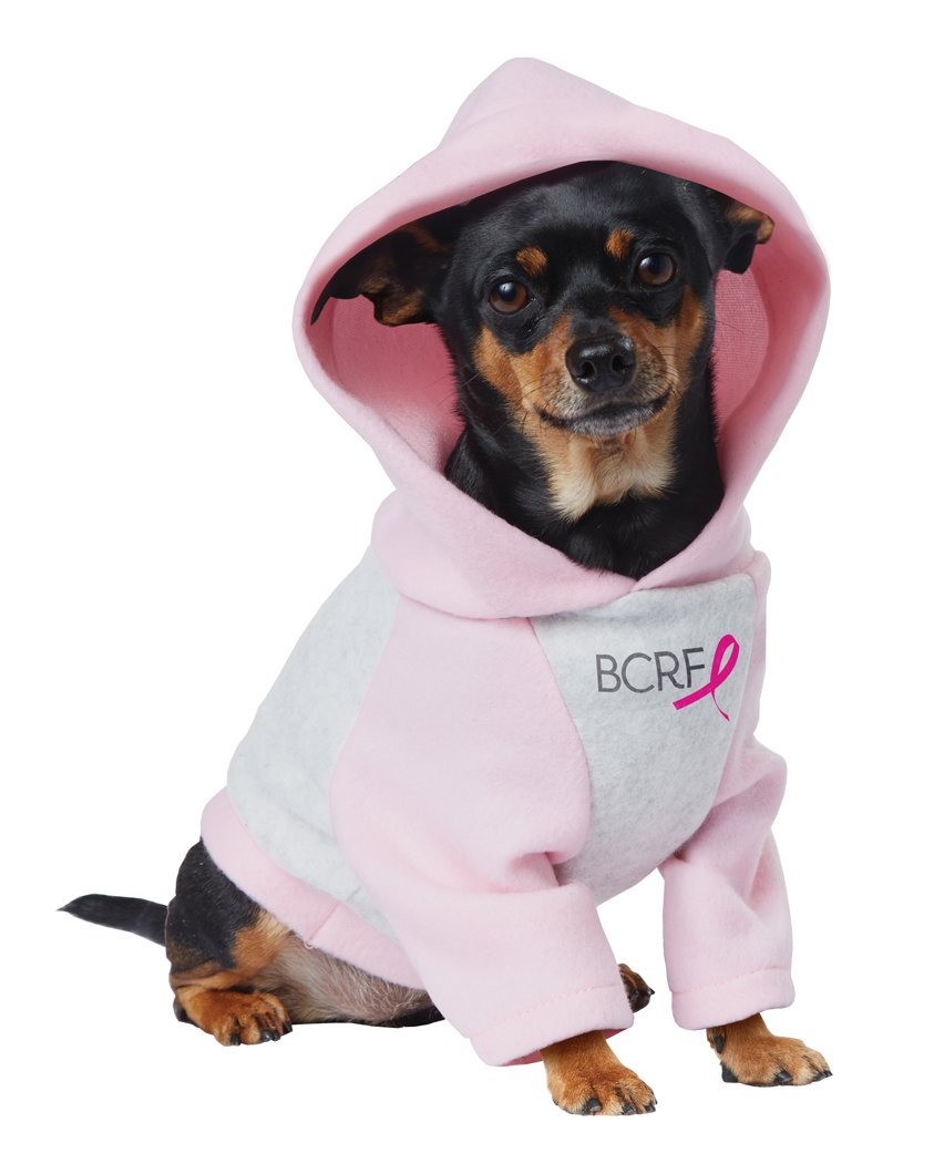 Pink Ribbon Hoodie Breast Cancer Research Foundation Pup Pet Dog Costume Size: Large #20144