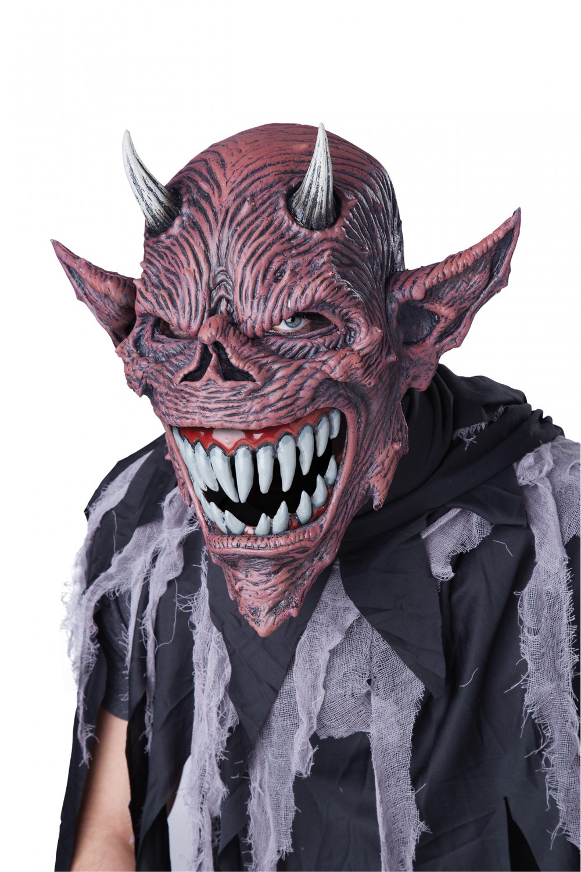 Standard Size: #60637 Demon Devil's Feast Ani-Motion Adult Costume Mask