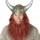 Nordic Viking Warrior Get Up Adult Costume Hat & Beard #60659