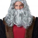Leonardo Da Vinci Renaissance Man Wig & Beard Adult Costume Wig #70233