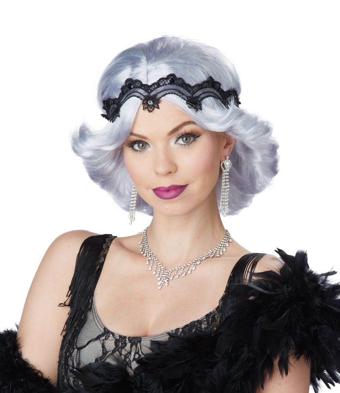 #70709   Glitz and Glamour 20's Fashion Flapper Adult Costume Wig & Headband