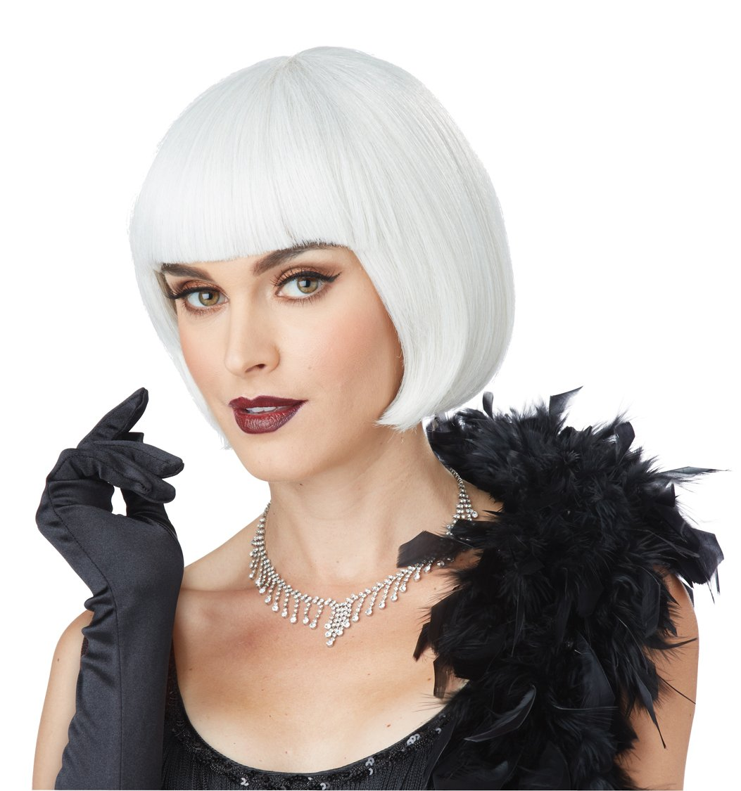 20's Fashion Flapper Dancer Adult Costume White Ash Blonde Wig #70849