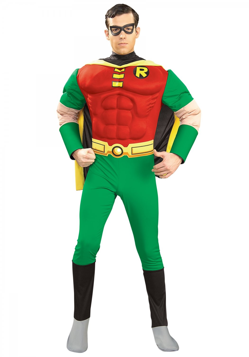 DC Comic Teen Titans Robin Muscle Chest Justice League Adult Costume Size: Small #88078S