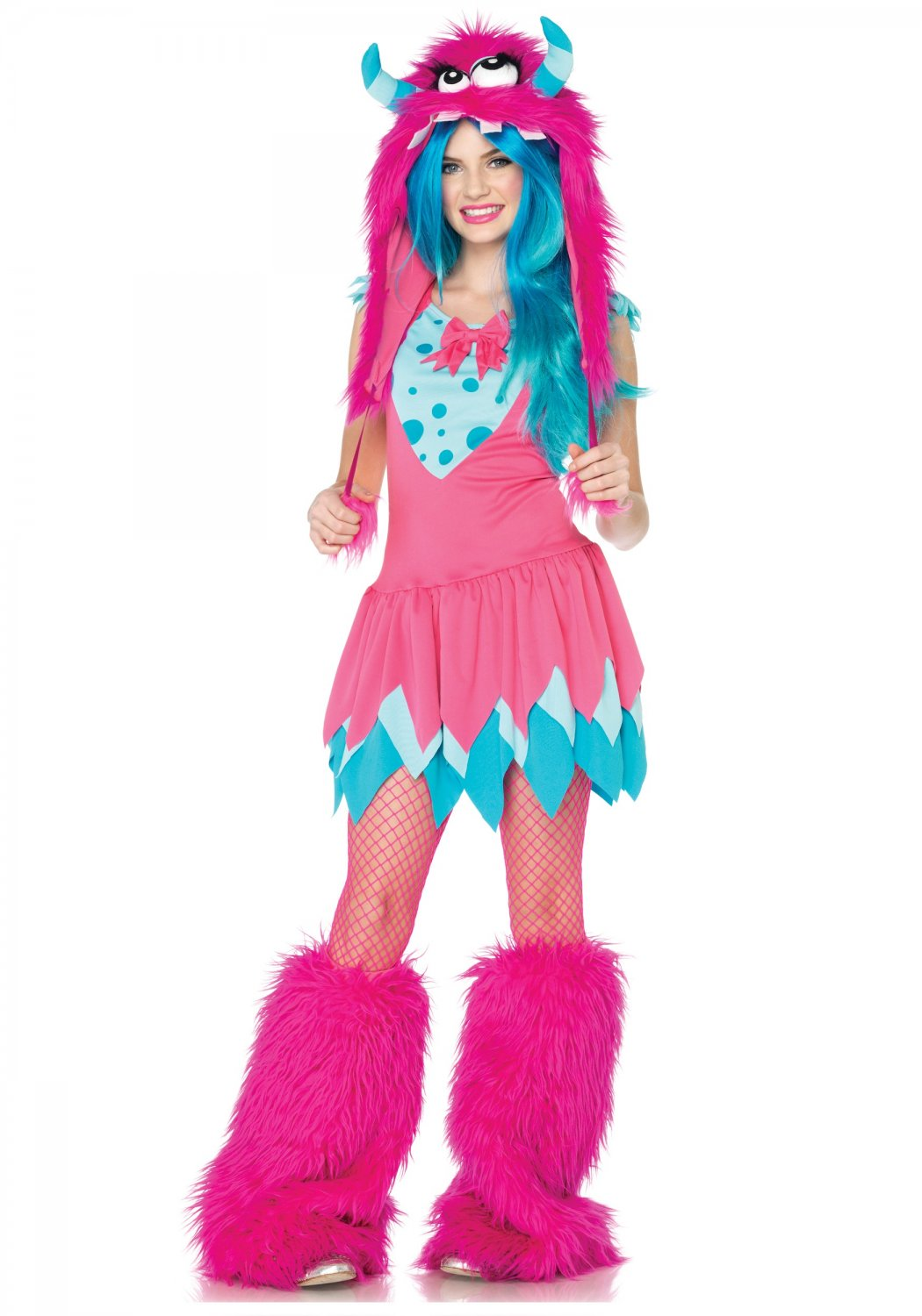 Junior Mischief Pink Monster Rave Fur Teen  Leg Avenue Adult Costume Size: Small/Medium #48066