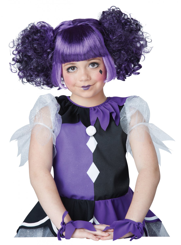 Gothic Dolly Clown Jester Child Wig  #70803