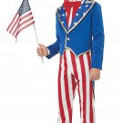 Patriotic USA America Uncle Sam Child Costume Size: Large #00629
