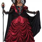 Dark Queen of Hearts Alice In Wonderland Adult Costume Size: Small #01473