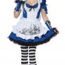 Gothic Mad Alice In Wonderland Adult Costume Size: Large #01472