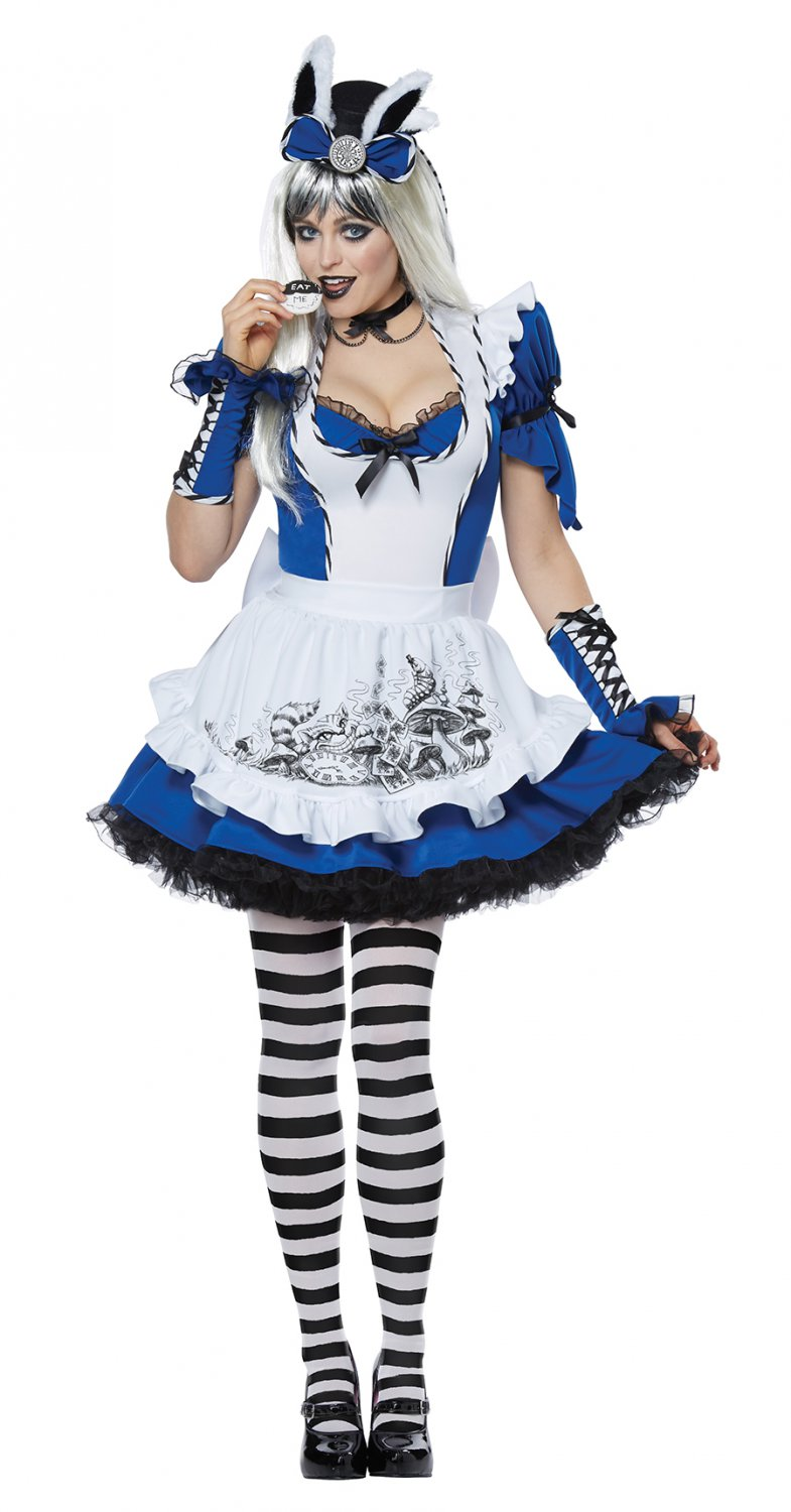Gothic Mad Alice In Wonderland Adult Costume Size: X-Small #01472