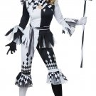 IT Sexy Clown Crazy Jester Harley Quinn Adult Costume Size: Small #01476