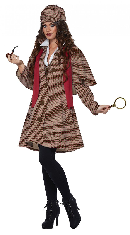 England  Detective Lady Sherlock Holmes Victorian Adult Costume Size: Large #01479